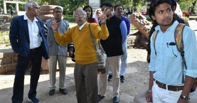 ताला और मदकु द्वीप के प्राचीन मंदिरों के परिभ्रमण के साथ हुआ राष्ट्रीय संगोष्ठी का समापन